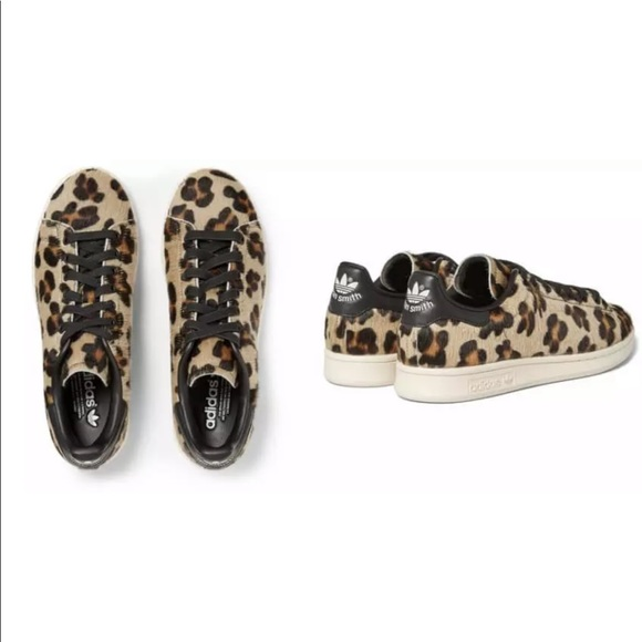 separation shoes 568cd 4f676 adidas Shoes - Adidas Leopard Pony Hair Stan Smith